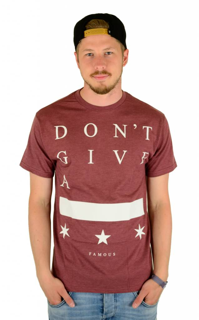 Famous Stars and Straps DGA Premium T-Shirt Burgundy