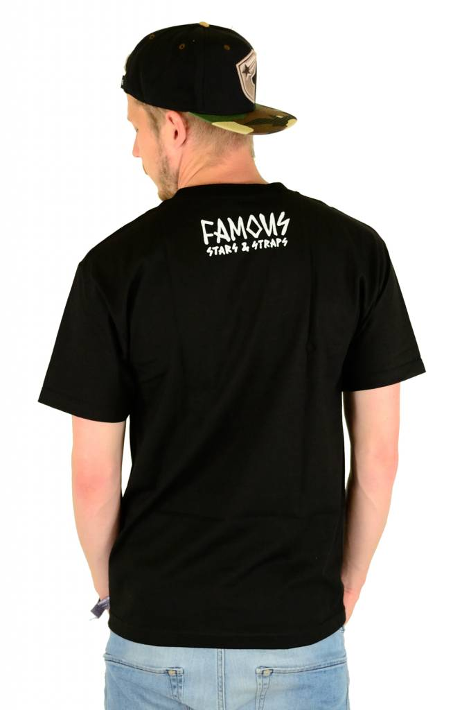 Famous Stars and Straps Pool Party T-Shirt Black