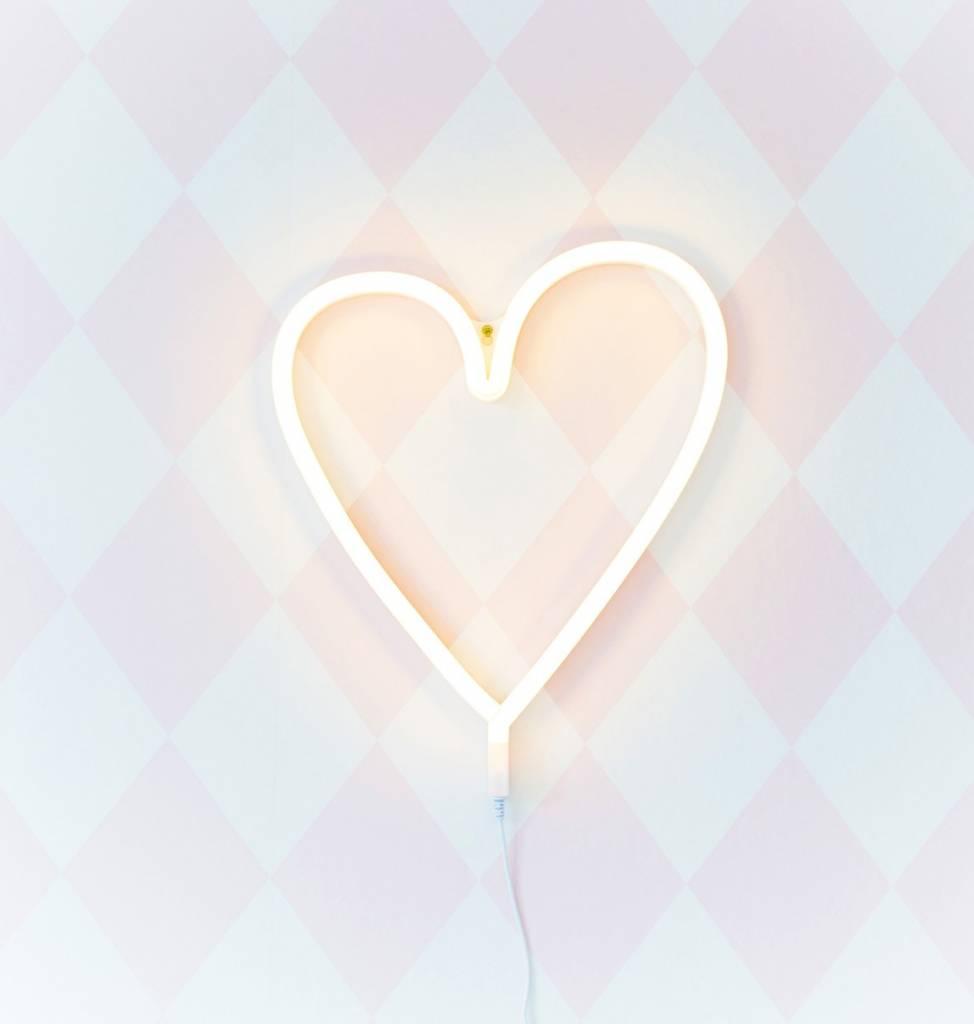 a Little Lovely Company A Little Lovely Company Neon lamp Hart - Roze / Geel