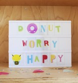 a Little Lovely Company Lightbox aanvullingsset Funky Colour Letters