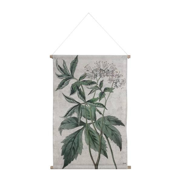 HKliving HK living Botanisch muurdecoratie, schoolplaat canvas Botanisch - maat L