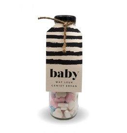 Cadeau flesje Baby op komst