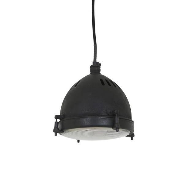 Industriële verlichting Industriële hanglamp Bomac Antiek Mat Zwart - Small