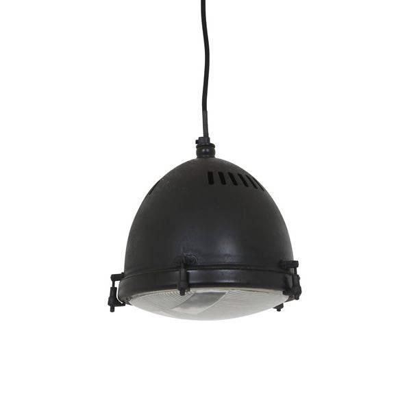 Industriële verlichting Industriële hanglamp Bomac Antiek Mat Zwart - Large
