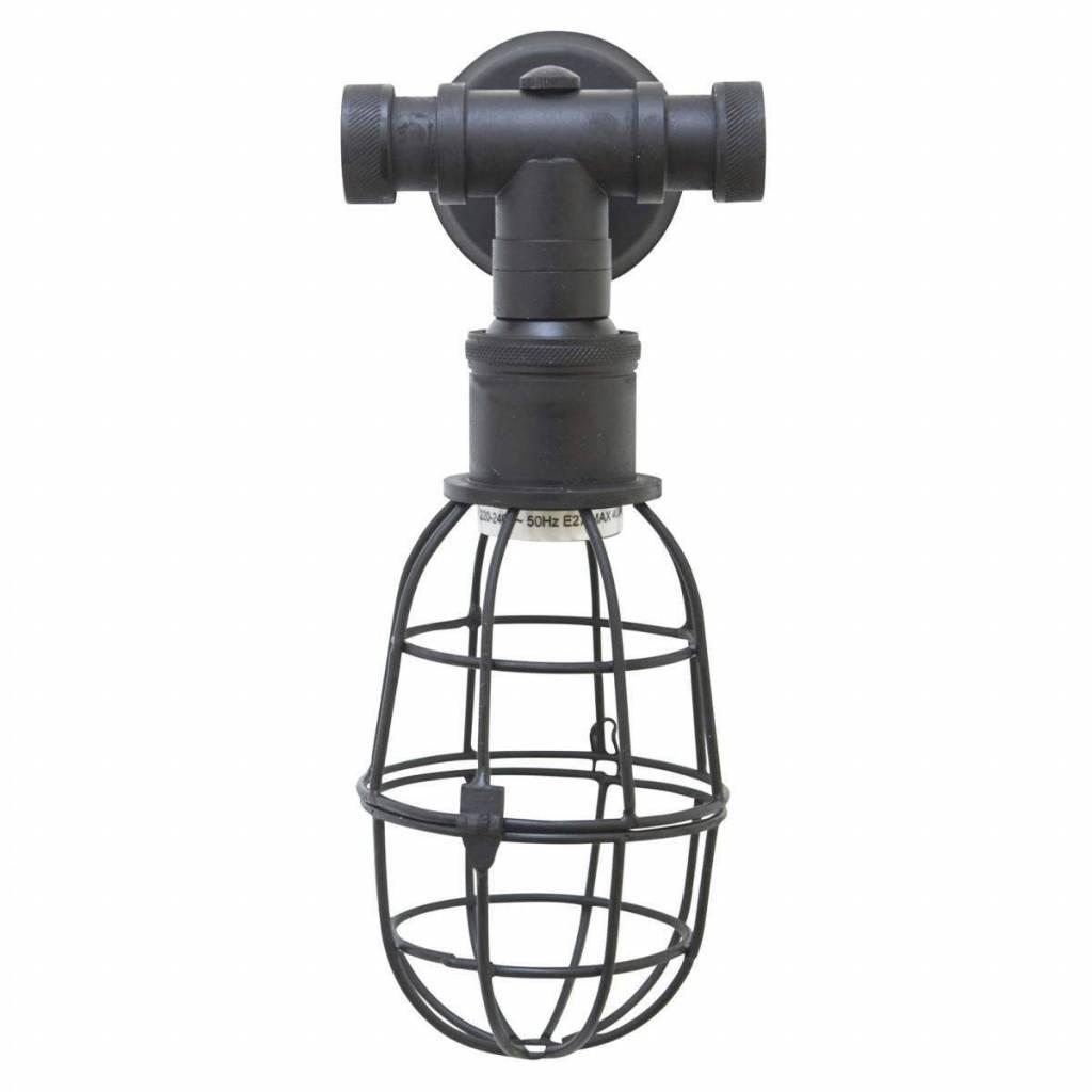 Industriële verlichting Wandlamp Sandford Antiek Mat Zwart