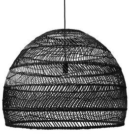 Hk Living HK Living Rieten Hanglamp Zwart 80 cm