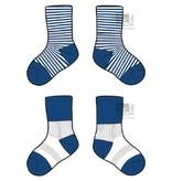 Blijf-sokken Blauw  0-6 maanden of 6-12 maanden