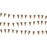 Puur Basic Home selection Stoere leren mini vlaggetjes - muurdecoratie mini vlaggetjes