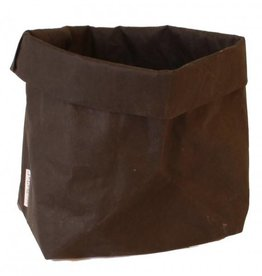 Puur Basic Home selection Paperbag Zwart
