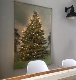 Hk Living HK living Kerst schoolplaat canvas Kerstboom XL