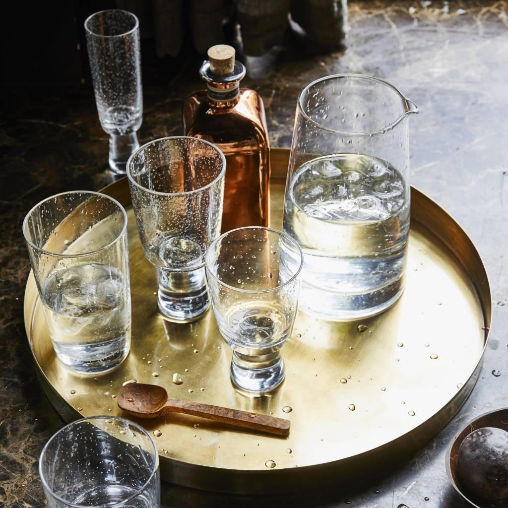 Hk Living Handgeblazen witte wijnglas - HK Living 70's stijl