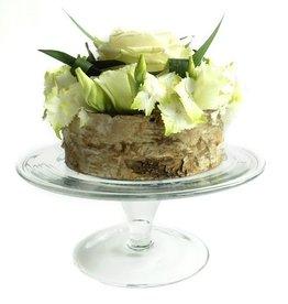 Glazen taartplateau Dutz