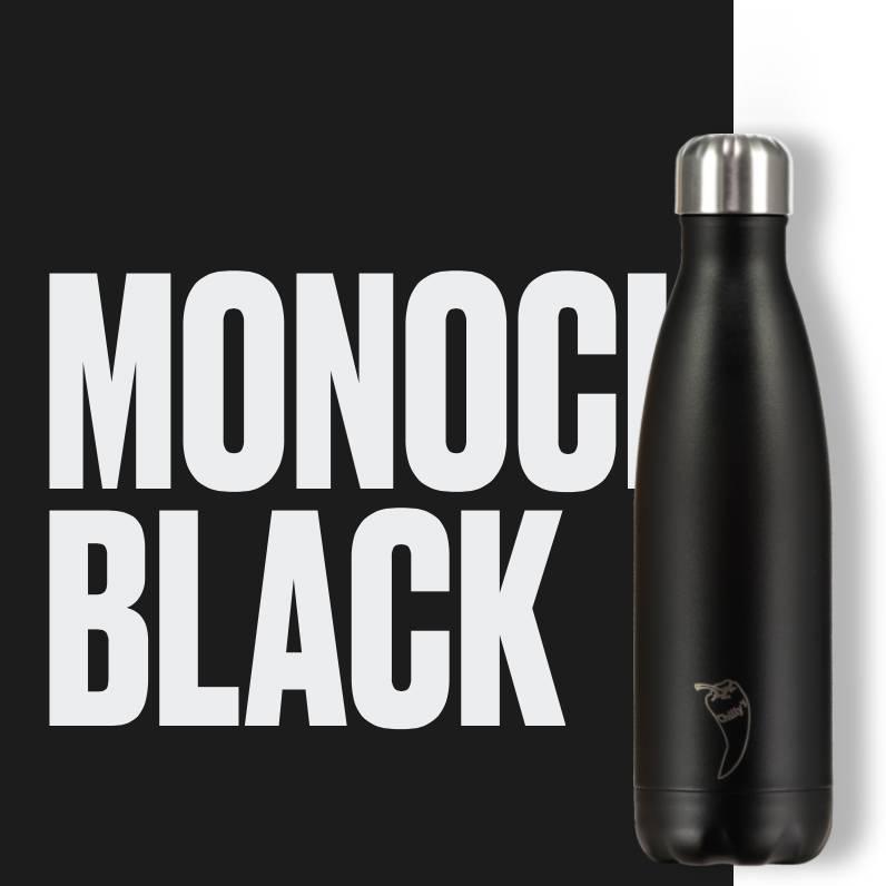 Chilly Bottle's Chilly Bottle - matt zwart - thermosfles 500 ml