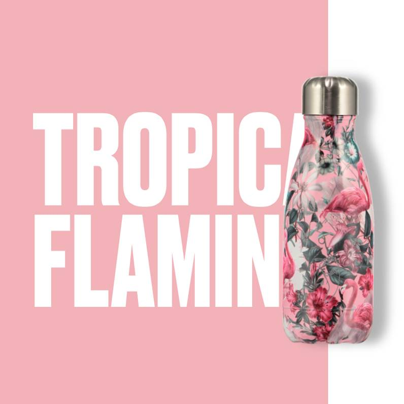 Chilly Bottle's Chilly Bottle - Flamingo - thermosfles 260 ml