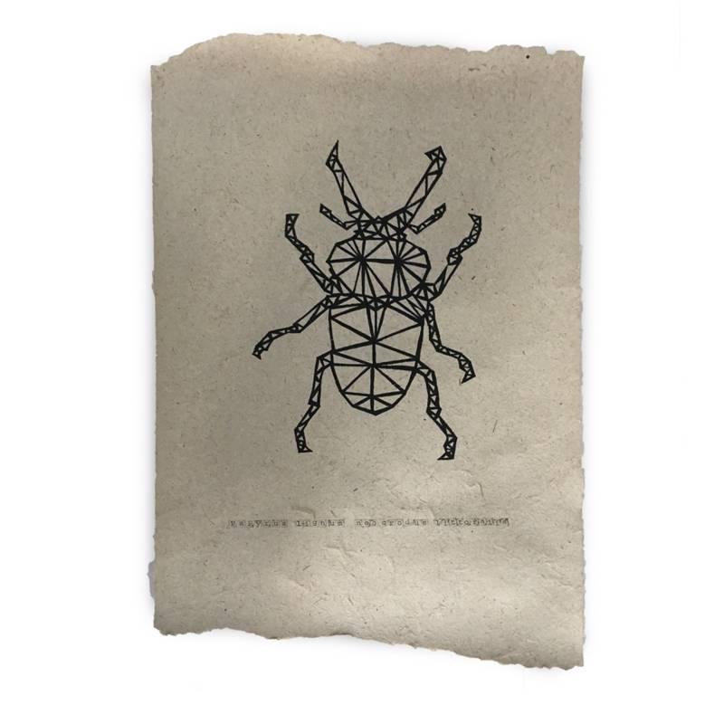 Nadesign Poster olifantenpoep papier - poster Bug /  Vlieg