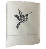 Nadesign Poster olifantenpoep papier - poster Kolibri / Vogel