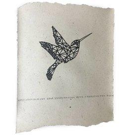 Nadesign Poster olifantenpoep papier Kolibri