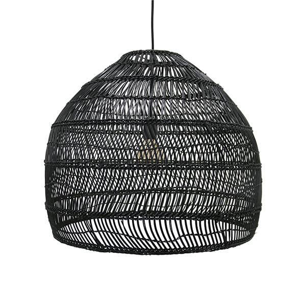 Hk Living HK Living Handgevluchten zwarte rieten hanglamp 80 cm - Copy