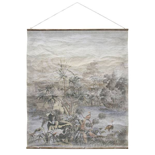Hk Living HK living Jungle muurdecoratie, schoolplaat canvas Jungle XL Vintage