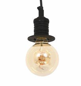 Industriële verlichting Hanglamp Pollux Antiek Mat Zwart
