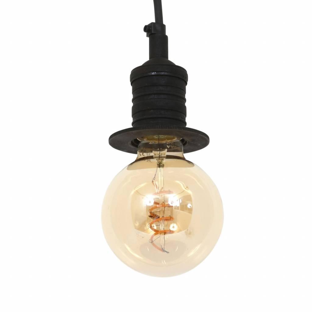 Industriële verlichting Industriële hanglamp Pollux Antiek Mat Zwart