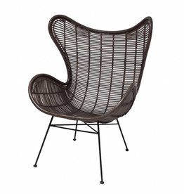 HKliving HK Living Egg Chair Zwart