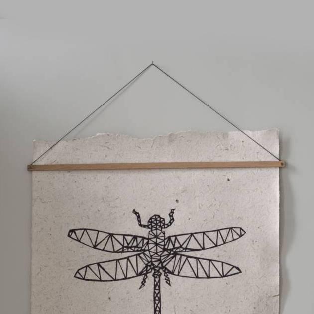 Nadesign Mooi houten ophang systeem voor posters