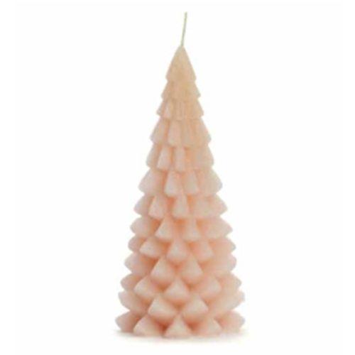 Rustic Lys Rustik lys kaars Kerstboom Roze