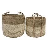 Hk Living HK Living seagrass baskets set van 2