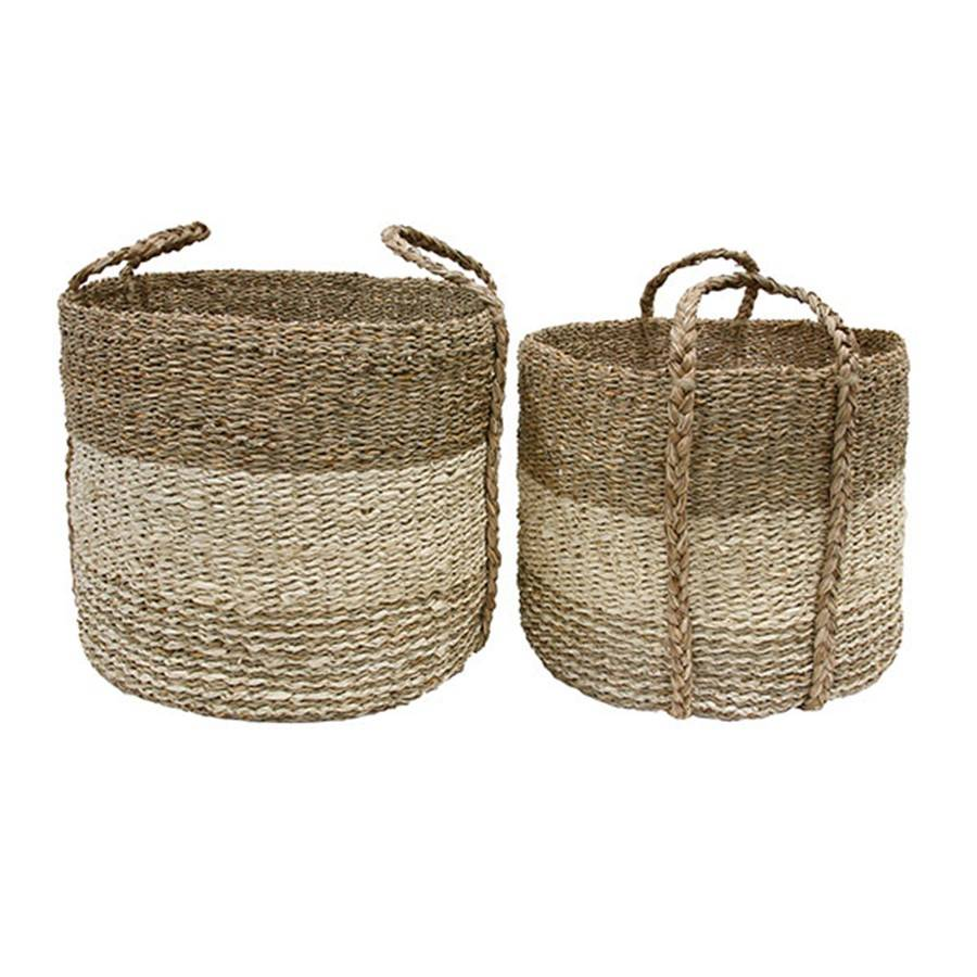 HKliving HK Living seagrass baskets set van 2