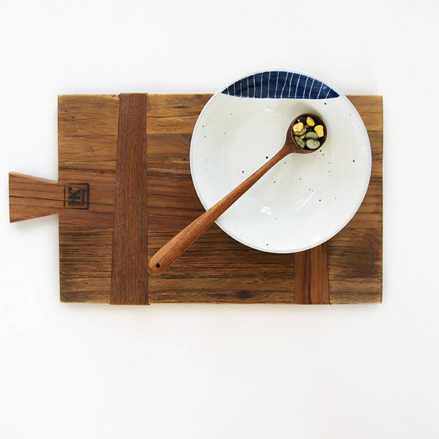 Hk Living HK Living Kaasplank / Broodplank gerecycled teak hout Maat S