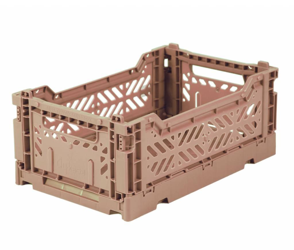 Eef Lillemore AyKasa Ay-Kasa Folding Crate Mini - Warm Taupe