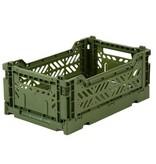 Eef Lillemore AyKasa Ay-Kasa Folding Crate Mini - Khaki groen