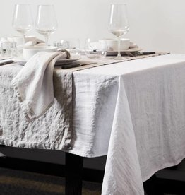 Puur Basic Home selection Tafelkleed en loper linnen Wit