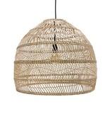Hk Living HK Living Handgevluchten naturel rieten hanglamp 60 cm