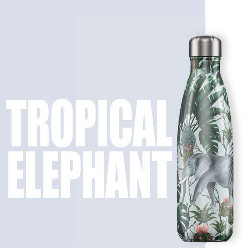 Chilly Bottle's Chilly Bottle - Elephant - thermosfles Chilly Jungle Olifant