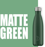 Chilly Bottle's Chilly Bottle Groen - Matte Green - thermosfles Chilly Donkergroen