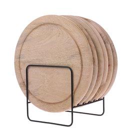 HKliving HK Living houten bordenrek