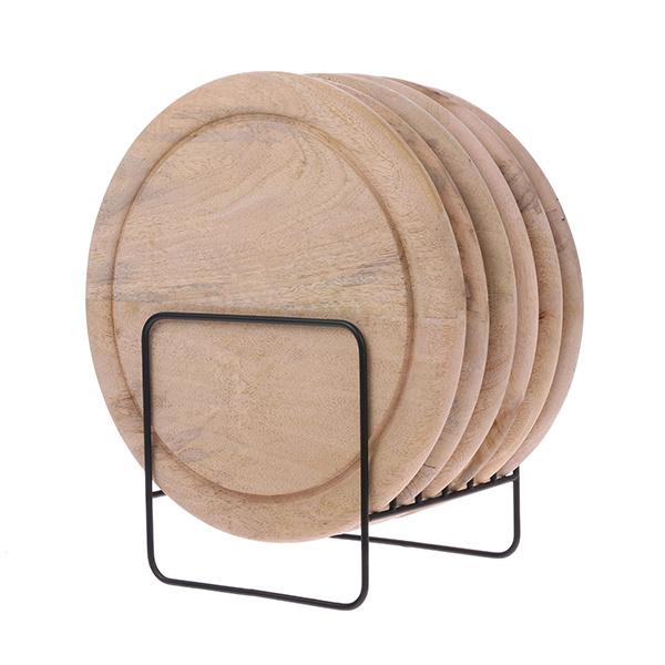 HKliving HK Living houten bordenrek ABR2218
