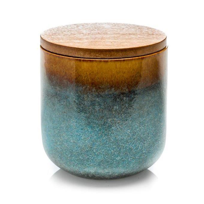 Luxe ceramic geurkaars geur: Ceder, patchoeli en sandelhout