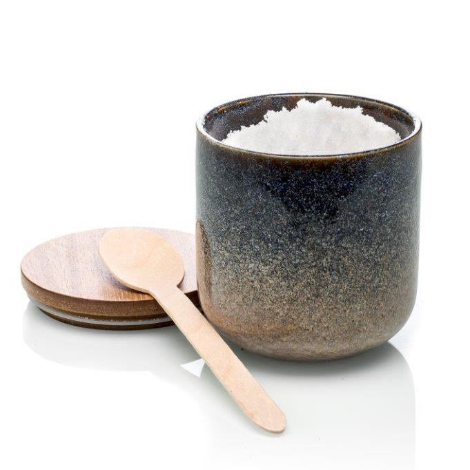 Luxe ceramic geurkaars geur: Bergamot, lelie en vetiver