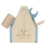 Little Dutch Little Dutch houten Gereedschapskist Mint - Blauw