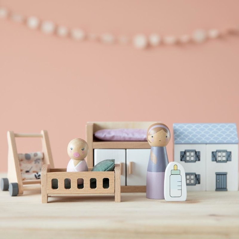 Little Dutch Little Dutch Poppenhuis speelset Babykamer