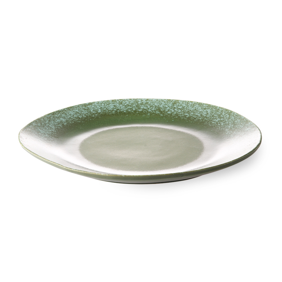 HKliving HK Living diner bord groen - HK Living dinner plate green  ACE6037
