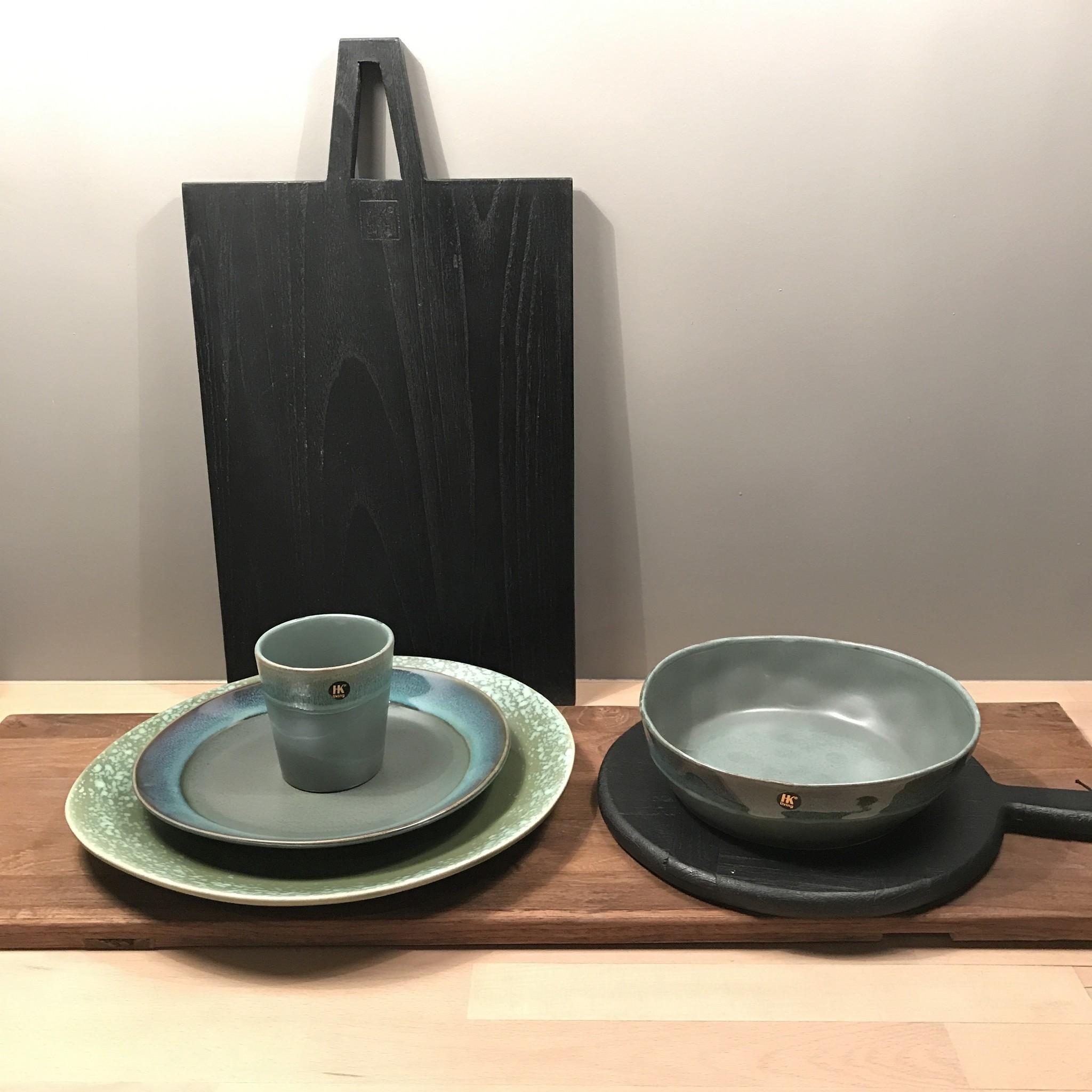 HKliving HK Living ontbijt bord moss groen - HK Living dinner plate green  ACE6762