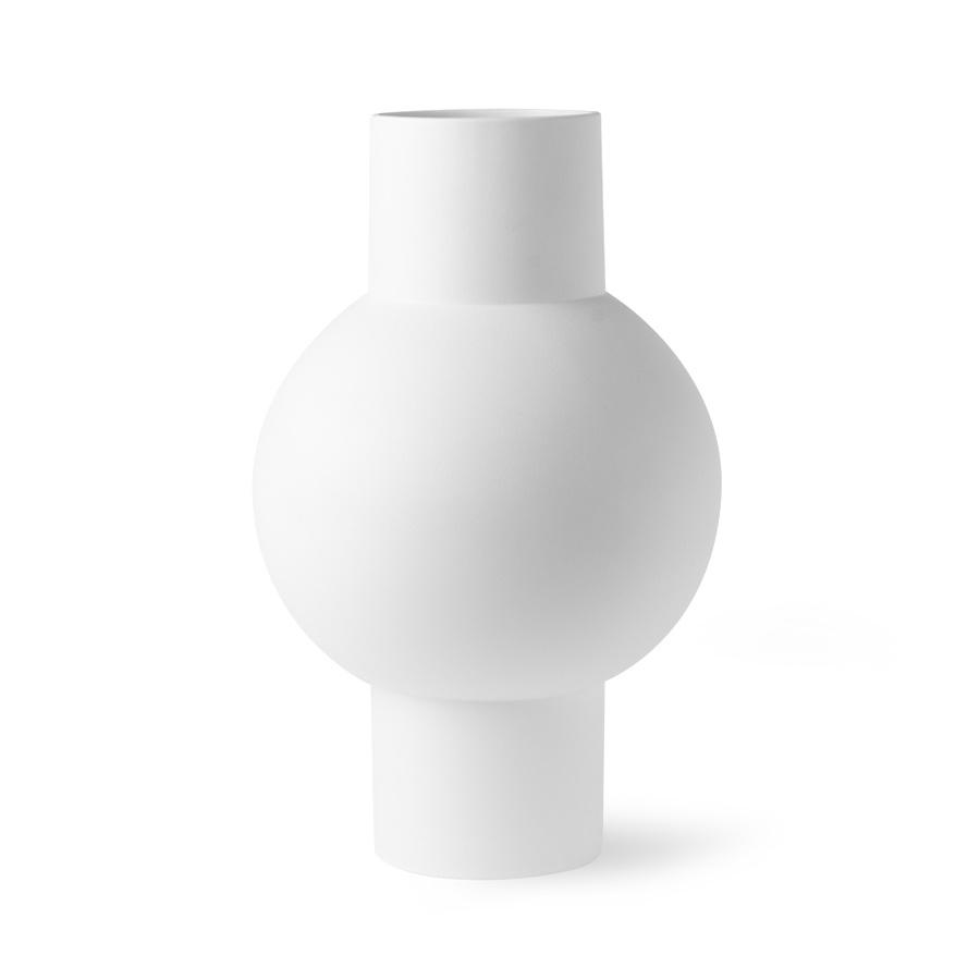 HKliving HK Living matt white vase M - ACE6808