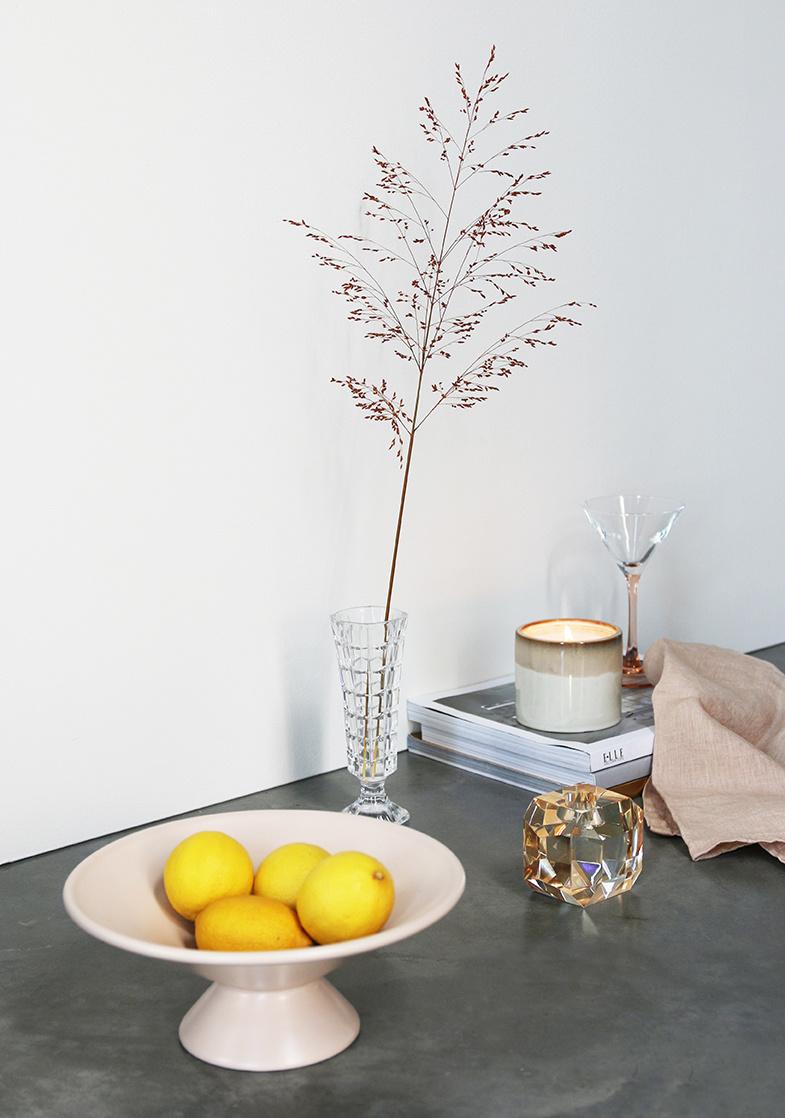 HKliving HK Living fruit bowl on base matt skin - ACE6799