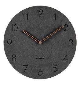 Present Time Karlsson wandklok Dura zwart