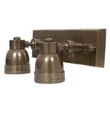 Industriële verlichting Wandlamp Indigo Swirl Dubble spot - Antiek Zilver - Mat Zwart - Brons - Koper