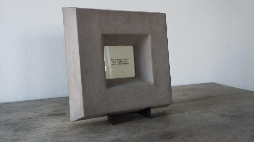 Fotolijst stoer robuust betonlook Bob design